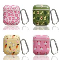 For Apple Airpods 1 2 Women Case For Airpods Bag White Bluetooth Earphone Accessories Rainbow Leopard Headphone Box