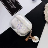 For apple airpods case Luxury Quicksand Shell Pendant Shockproof Earphone Cover For Airpods1 2 Pro Case Accessories