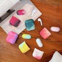 Liquid Silicone Luxury Camouflage Watercolor Case For Apple Airpods 1 2 Pro 3 Painti Colorful Gradient Soft Cover
