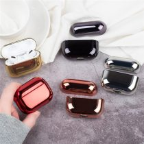 Luxury Earphone Cover For Apple AirPods Pro 2 1 Case AirPods Protection Air Pods 3 Black Gold Glossy Plating Hard PC Accessories