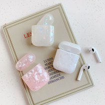 Luxury Soft Silicone TPU Conch Shell Pattern Earphone Cases For Apple Airpod 1 2 Cover