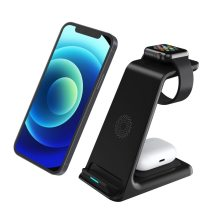 15W Wireless Charger For Iphone 8 XS XR 11 12 Pro Max Fast Charging Station For Airpods Pro Apple Watch 6 5 4 3 2 1
