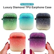 Gradient Color Case For AirPods 2nd 2 1 Protective Cover Earphone Case For Apple Airpods 2 1 Luxury Diamonds Coque Charging Bag