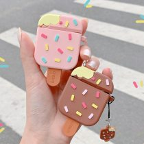 3D Ice Cream Case For Airpods 1 2 Soft Silicone Cute Cover Bluetooth Earphone Charging Box Protective Shell For Airpods Pro 3