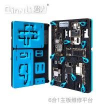 Qianli Motherboard Fixture 6 in 1 CPU Middle Frame Reballing Platform for iPhone X XS MAX 11 11Pro Max Mainboard Repair Tool