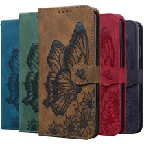 Retro Flip Leather Phone Case For iPhone13 12 11 Pro X XS XR Max 6 7 8 SE 2 6S Plus Fundas Card Holder Butterfly Stand Book Cover