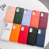 Wallet Case For Samsung Galaxy A52 A72 A32 A12 A21S Liquid Silicone Case For S21 Plus Note 20 Ultra With Card Holder Cover Funda