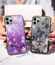 Butterfly Flower Dynamic Liquid Glitter Quicksand Diamond Case Cover For iPhone 13 12 Mini 11 Pro XS Max XR X 8 7 6 6S Plus SE