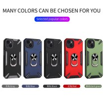 Shockproof Armor Kickstand Phone Case For iPhone 13 12 11 Pro max XS XR 6 6S 7 8 Plus XS Max Finger Magnetic Ring Holder Cover
