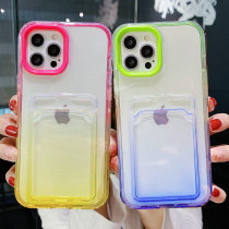Card Bag Transparent Phone Case For iPhone 13 11 12 Pro Max XS Max X XR 7 8 Plus 12 13 Pro 11 Soft Shockproof Bumper Back Cover