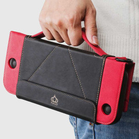 Nintendo Switch Wallet Style Carrying Case,  PU Leather Protect Flip Travel Cover for Nintendo Switch Case with 12Card Holeders & Stand Function