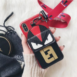 Europe and the United States card small monster leather phone shell coin purse iphone all-inclusive protective shell