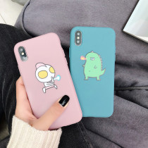 Cartoon Altman Little Monster iphone Mobile Shell Xs max Silicone Soft Shell