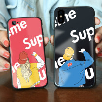 Supreme Glass iPhone Case Tempered glass Hip hop boy iPhone 7 8 plus X Xs XsMax Cover