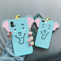 3D DUMBO iPhone case Long ears small Flying elephant iPhone 7 8 plus X XR XS MAX Cover
