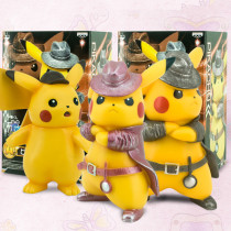Pikachu Detective Action Figure Pokemon Cosplay Detective PVC Model GARAGE KIT