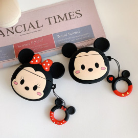 3D Mickey Minnie Airpods Case Disney wireless Bluetooth silicone earphone headphone cover
