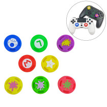 Switch PRO handle rocker protection cap Mario spray color non-slip PS4/PS3/ONE silicone cap