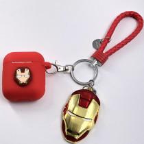 Airpods Bluetooth Wireless Headphones Silicone Case Spiderman Iron Man Anti-lost Accessories