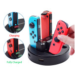 NS Nintendo Switch Gamepad Portable Joy-Con Charging Dock 4 in 1 Charger Base Stand Station