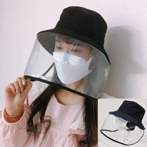 Epidemic Protection Hat - Anti Saliva Fog UV Hat with Face Shield - Full Face Isolation Anti-Pollution Hat