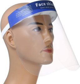 Disposable Safety Face Shield Fluid Resistant Full Face Mask Transparent Single Use Mask