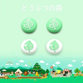 Animal Crossing Tree Leaf Joystick Cap Cover For Nintendo Switch NS Lite Joy-Con Controller Gamepad Case