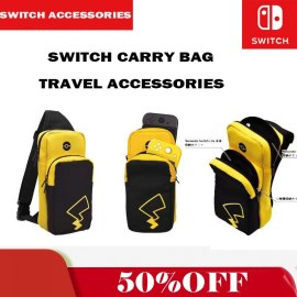 Animal Crossing Pikachu Travel Protable Carrying Storage Bag For Nintendo Switch Lite Console