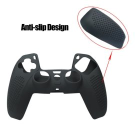 Handle Sleeve Silicone Case Dustproof Skin Protective Cover With Anti-slip Particle for S-ony PlayStation PS5 Controller