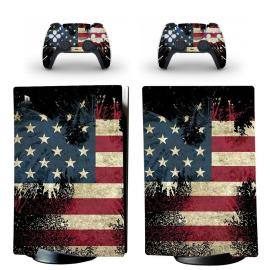 PS5 Skin Sticker Decal Cover for PS5 Digital Edition Console and 2 Controllers