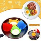 Eier Kochen, Silikon Eier Pochierer, Perfekte Pochiert Eier Becher Bunt Extra Dickes Silikon Egg Poacher Molds - Set Von 4