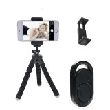 ELEWELT Phone Tripod Portable Flexible Tripod with Wireless Remote and Universal Clip