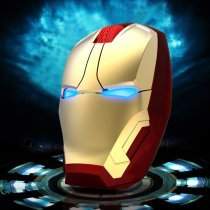 Iron Man Wireless Mouse Cool lighting effect 4D button Universal laptop mouse