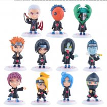 11 pcs/set NARUTO Q-Version Uzumaki Naruto PVC Action Figure Model kit collection