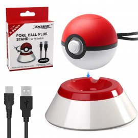 Charger Stand for Nintendo Pokeball Plus Controller,Charging Stand with USB Charger Cable Compatible with Poke Ball Plus for Switch Lets Go Pikachu Lets Go Eevee Game Controller&Poké Ball Plus accessory