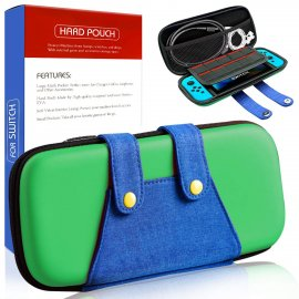 Travel Carry Case Bag for Nintendo Switch Joy-Con & Accessories-Green