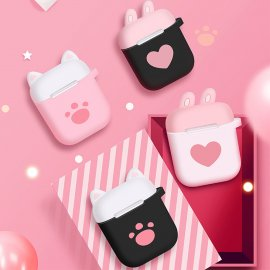 Hello kitty Airpods case Finger Ring Strap Cute Cat Airpods 1/2 Earphone Protective Cover