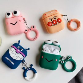 Anpanman Apple Airpods case Finger Ring Strap Airpods Earphone Protective Cover