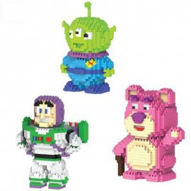 Toy Story lego Strawberry Aliens Building Block Bricks kid Puzzling Toy doll gift