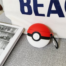 Pikachu Poke Ball AirPods Case Pokemon Go 3D Cartoon Skin Kits Cases Shockproof Cover