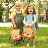 CZYY Insulated Lunch Bag Tote Cute Toast Design, Washable and Freezable Best School Lunch Box for Toddlers & Kids
