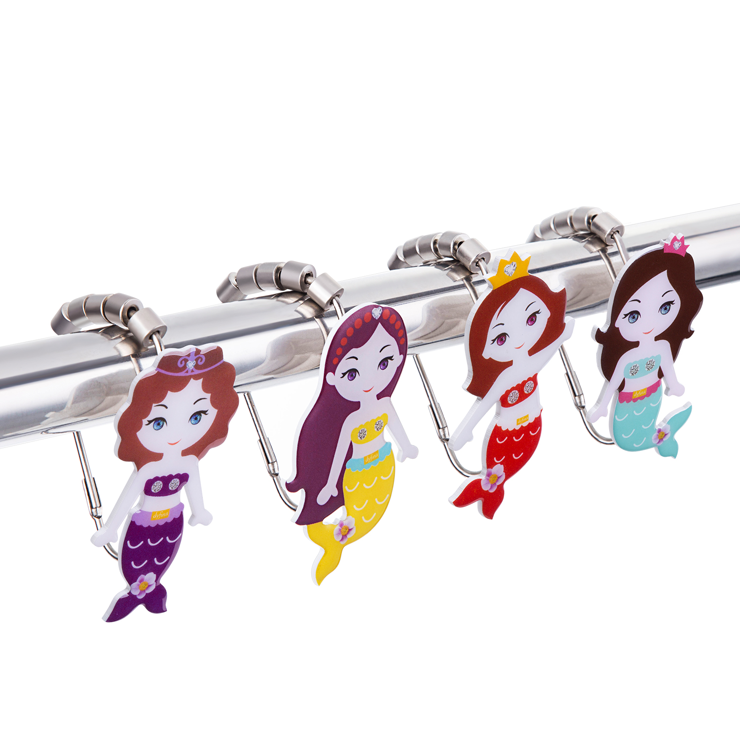 Unique Mermaid Shower Curtain Hooks Set of 12