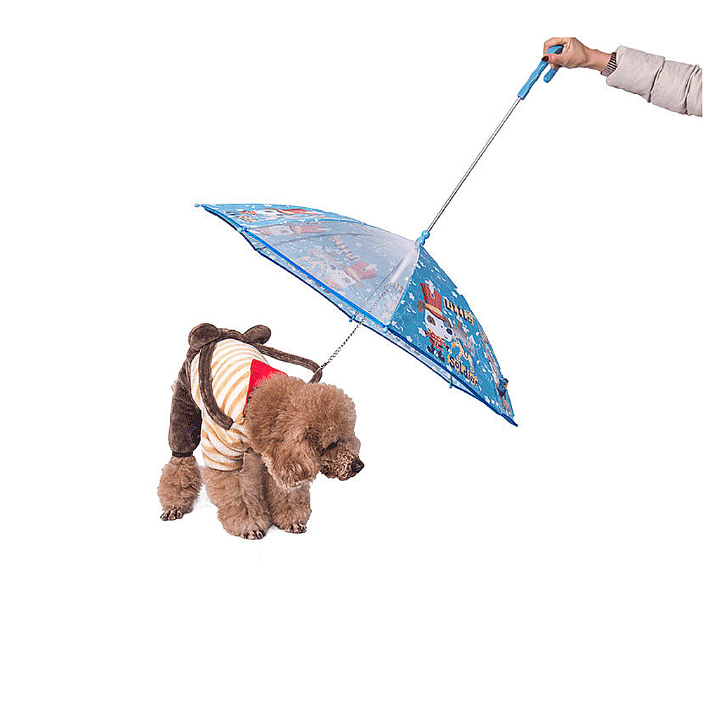Dog Umbrella Pet Umbrella with Leash
