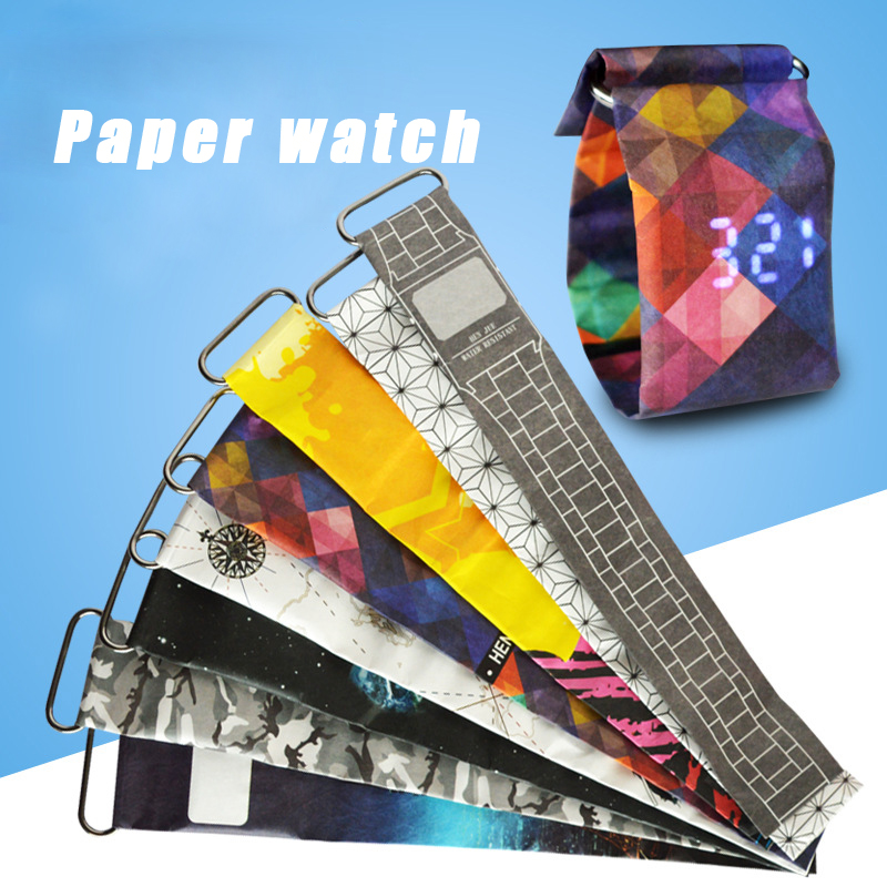 Cool & Fashion LED Waterproof Paper Watch