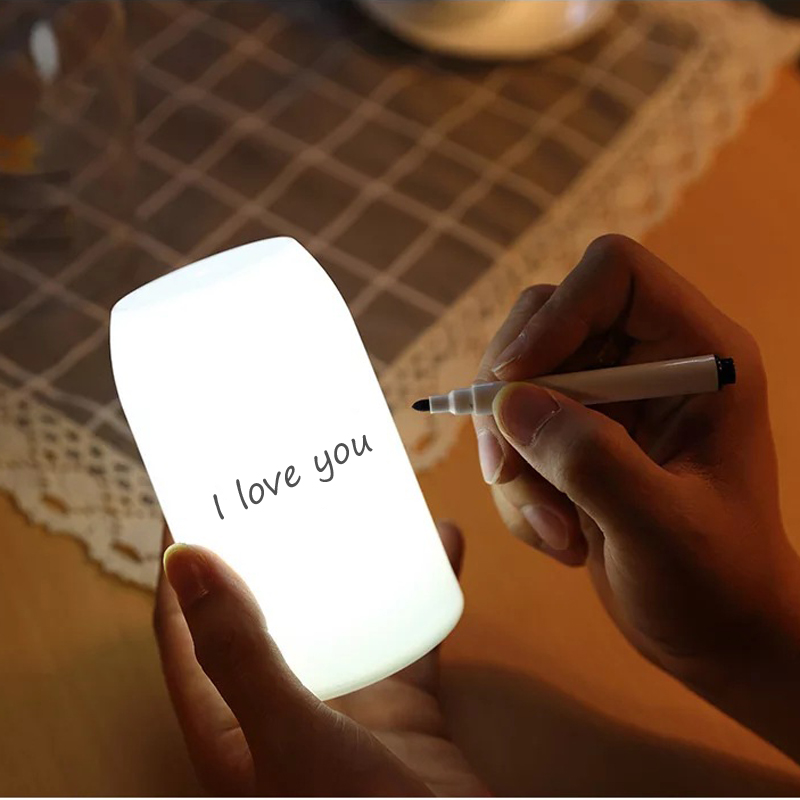 Milk Bottle Shaped Message Night Light