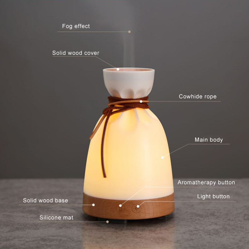 140ml Creative Cute Essential Oil Diffuser with Adjustable Mist Mode, Aroma Diffuser for Bedroom/Office/Trip