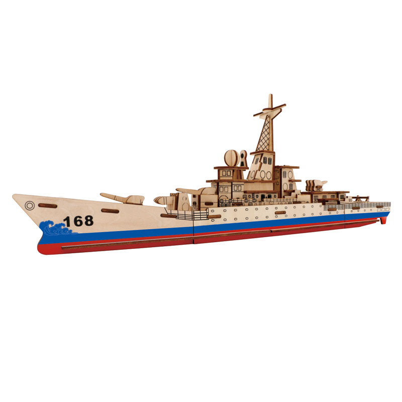 3D Wooden Puzzle Toy, Ship Boat Model Puzzle Toy Best Gift Adult Children