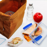 Brown Waxed Canvas Lunch Bags