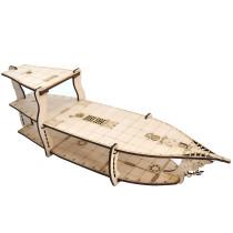 D&D Miniatures Action Figure Wood Display Stand - Large 3-Level Brigantine Ship Bundle for Tabletop RPG