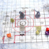 CZYY Spell AOE Damage Marker for 1  Grid or Hex Tabletop Game Mat Acrylic D&D Area Effect Template - RPG Gaming Accessories Perfect for Dungeons and Dragons, Pathfinder and Other TTRPGs